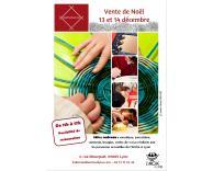 vente de noël des ateliers de production l'Arche à Lyon