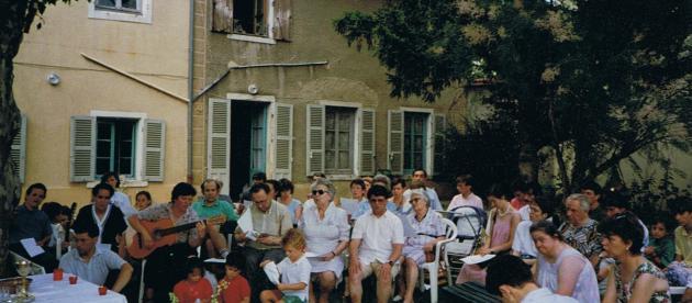 Une messe célébrée en 1993 Rue Roger Salengro